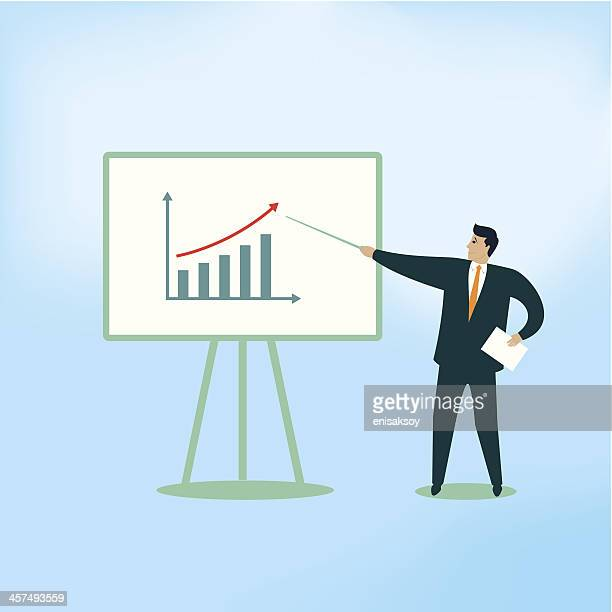 Businessman Showing Growth Chart