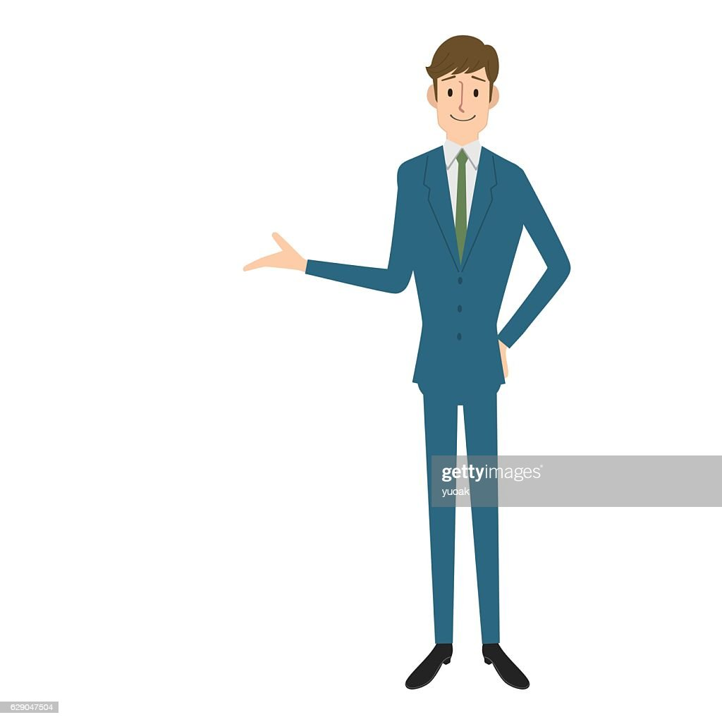 Businessman showing : stock illustration