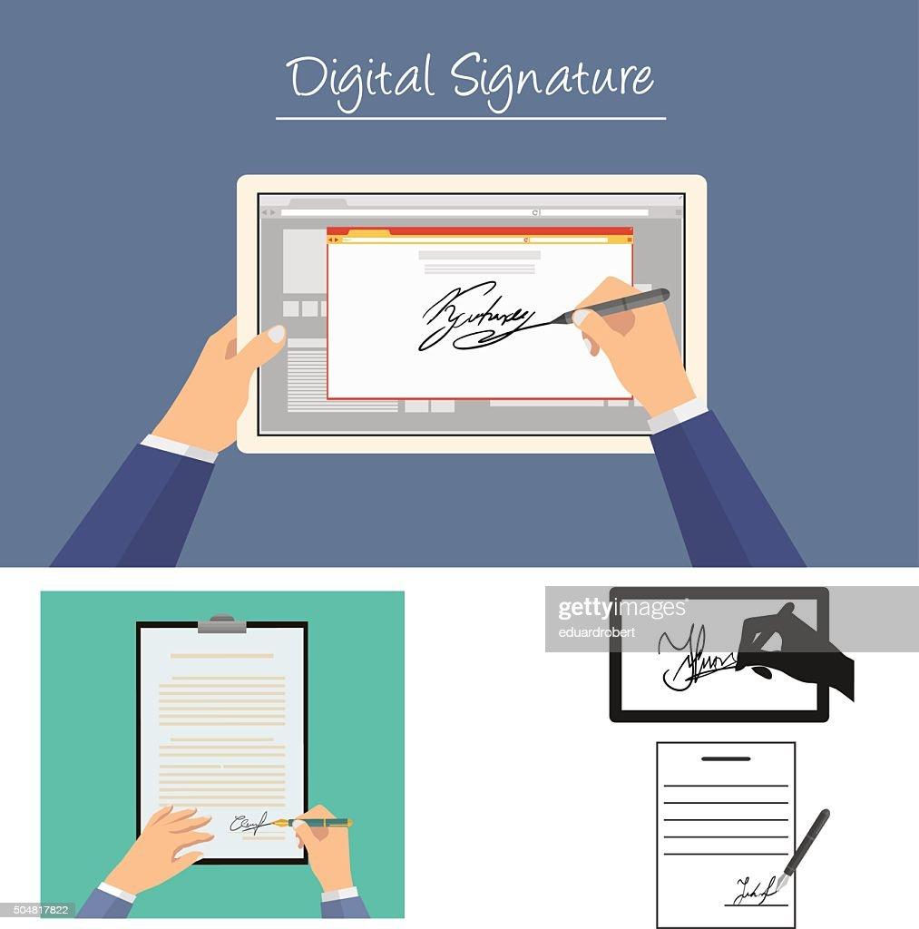 Businessman sign documents