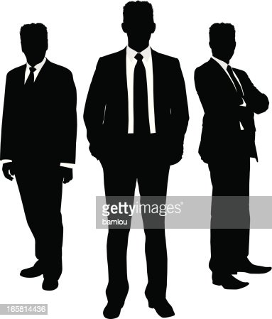 Businessman Silhouette Trio Vector Art | Getty Images