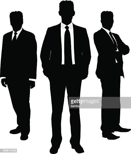 Businessman silhouette trio