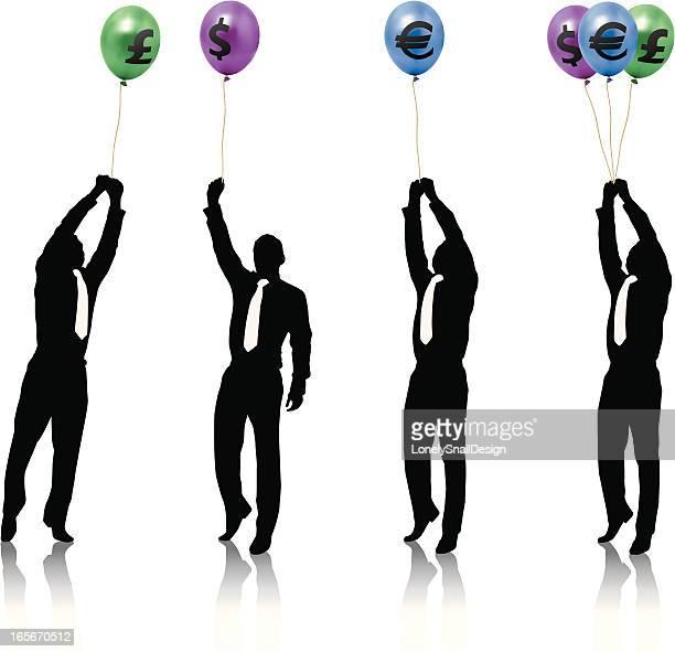 Businessman Small Balloons