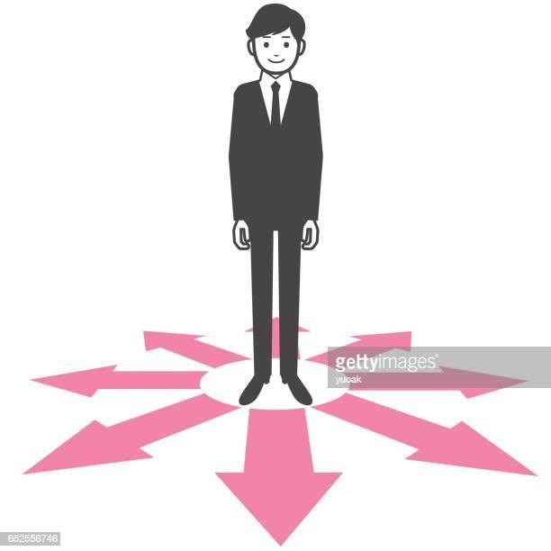 実業家、岐路に立っている方法