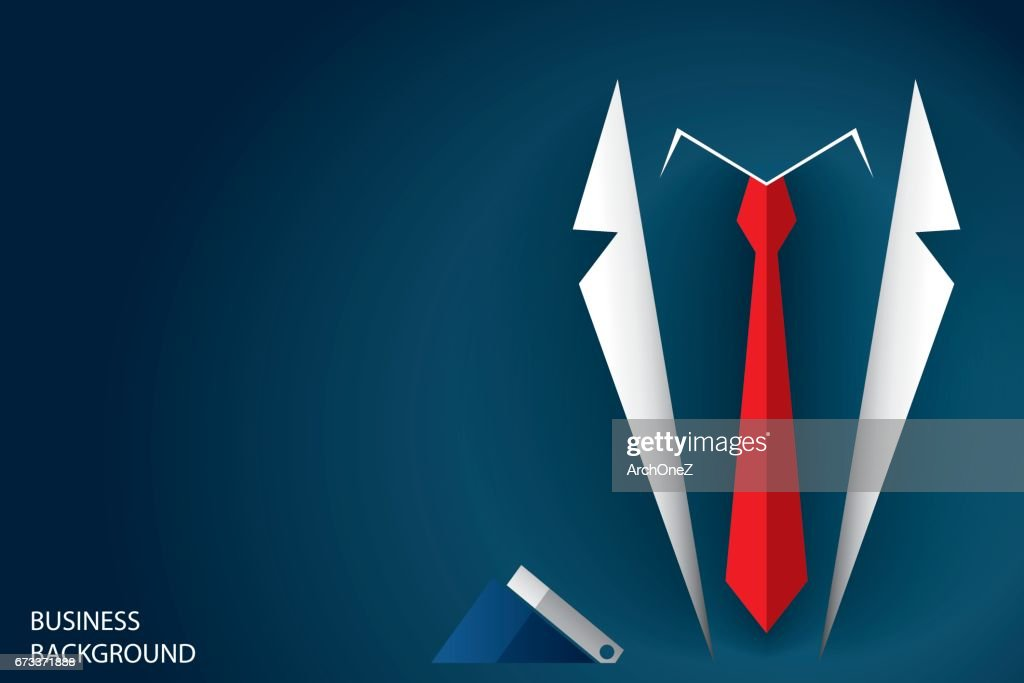 businessman suit and red necktie, business concept background