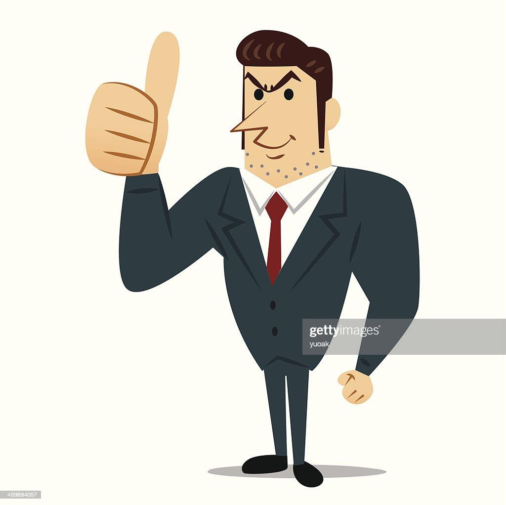 Businessman thumb up : stock illustration