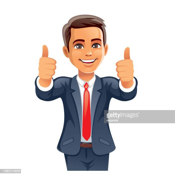 businessman thumbs up - gesturing stock illustrations