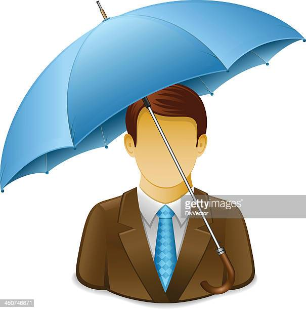 Businessman under Umbrella