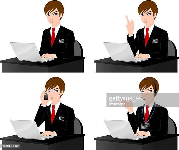 Geschäftsmann mit laptop-computer.