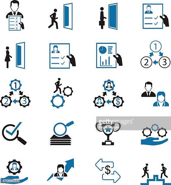 Businessman vector icons set