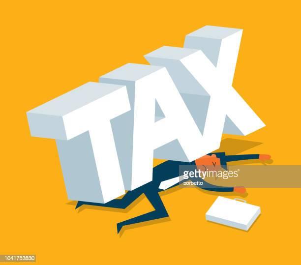 ilustraciones, imágenes clip art, dibujos animados e iconos de stock de impuestos - empresario - impuestos sobre la renta