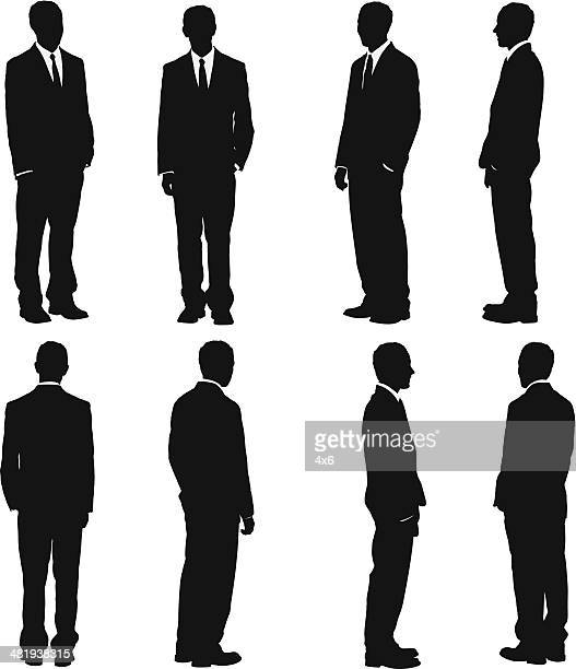 businessman - side view stock illustrations