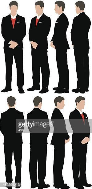 businessman - full suit stock illustrations