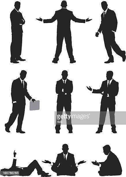 businessman vector illustrations - shrugging stock illustrations, clip art, cartoons, & icons