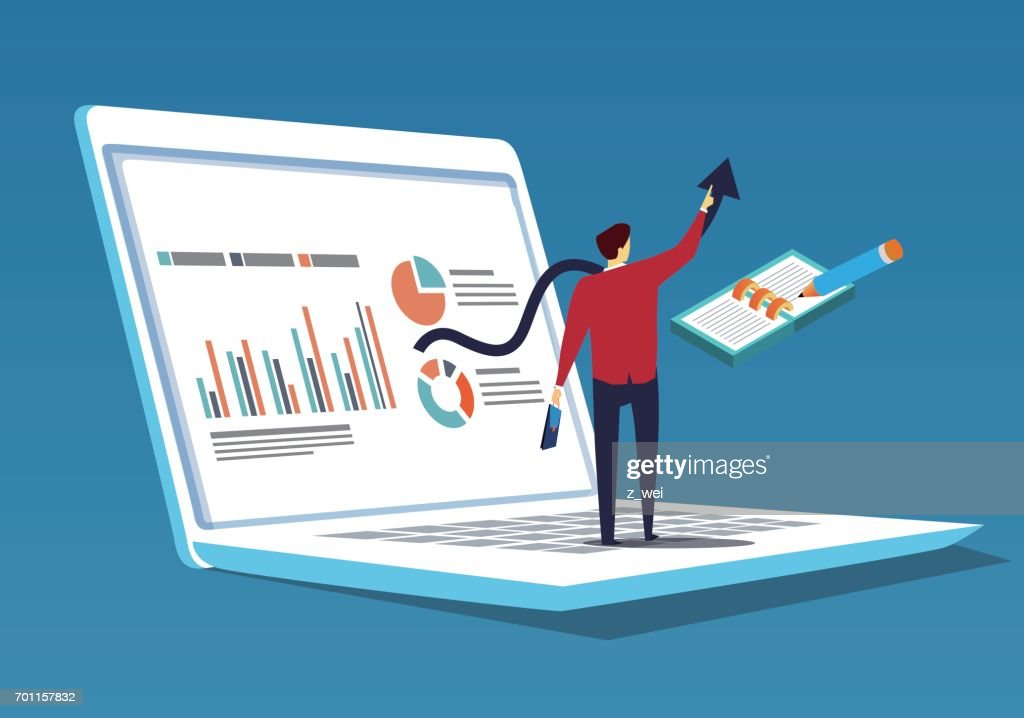 businessman who does data analysis