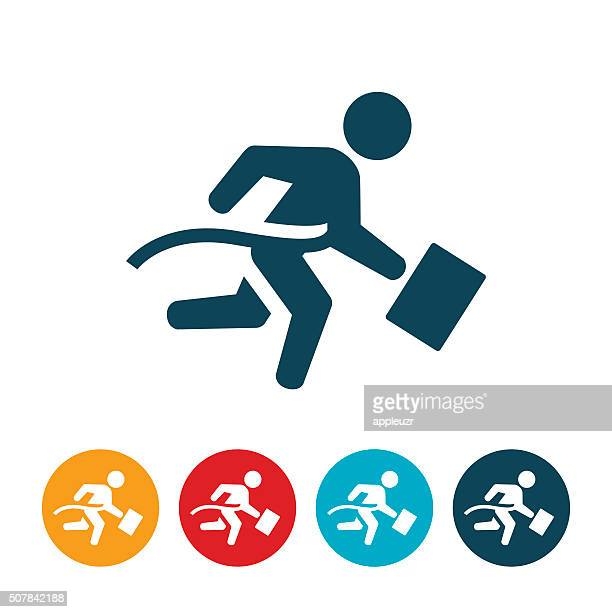 Businessman Winning Race
