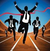 Businessman wins the Race