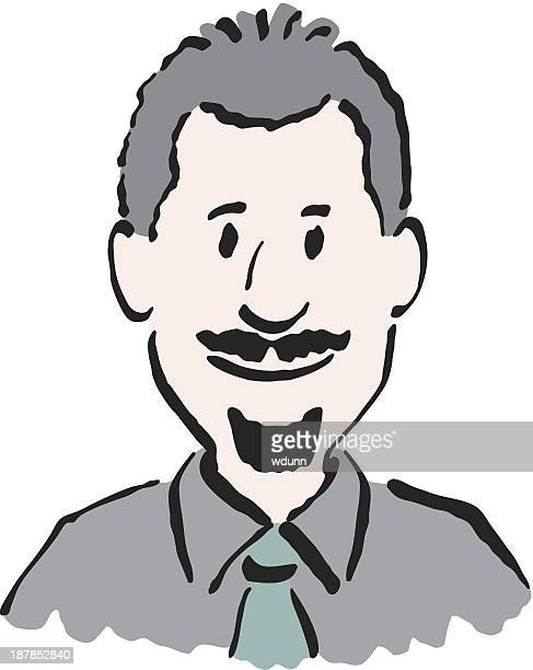 Businessman with a mustache