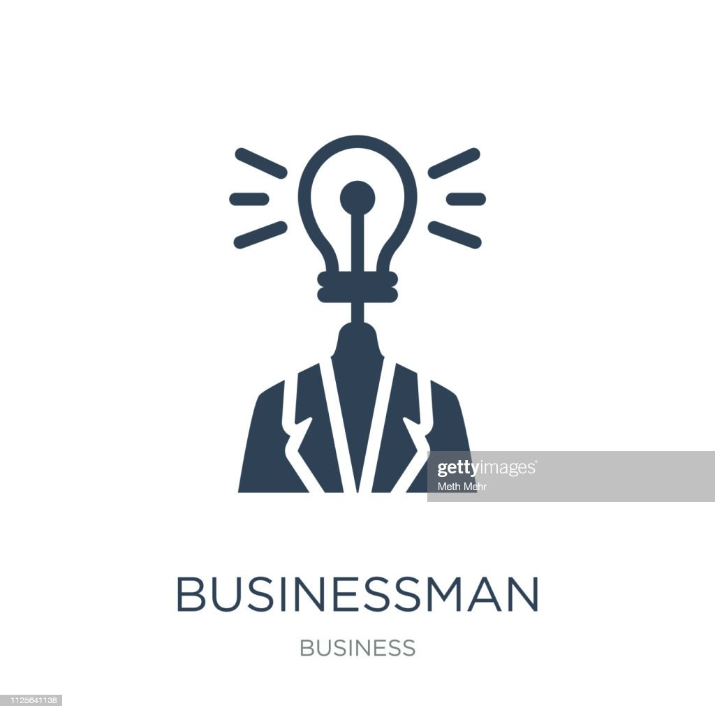 businessman with an idea icon vector on white background, busine