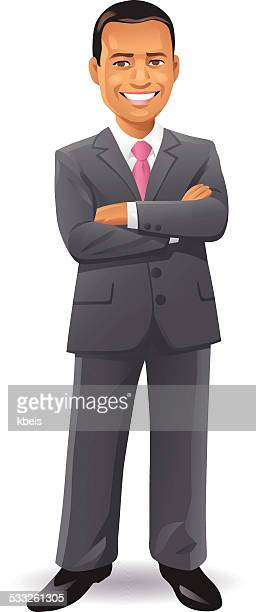 Geschäftsmann mit Arme verschränkt