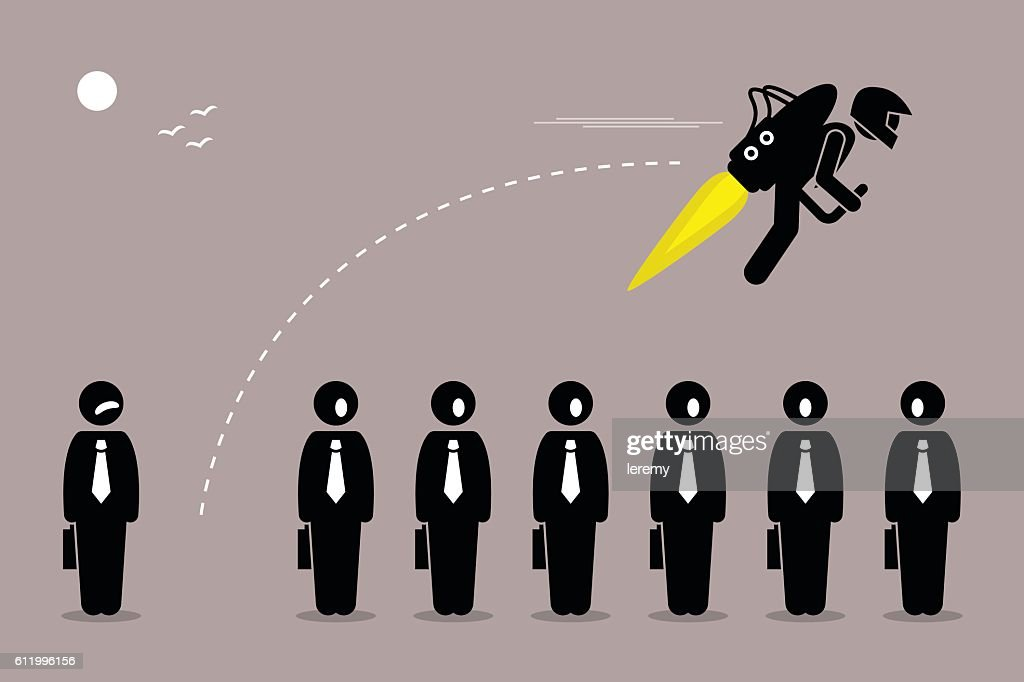 Businessman with Jetpack