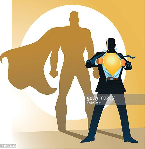 Businessman With Superhero Shadow