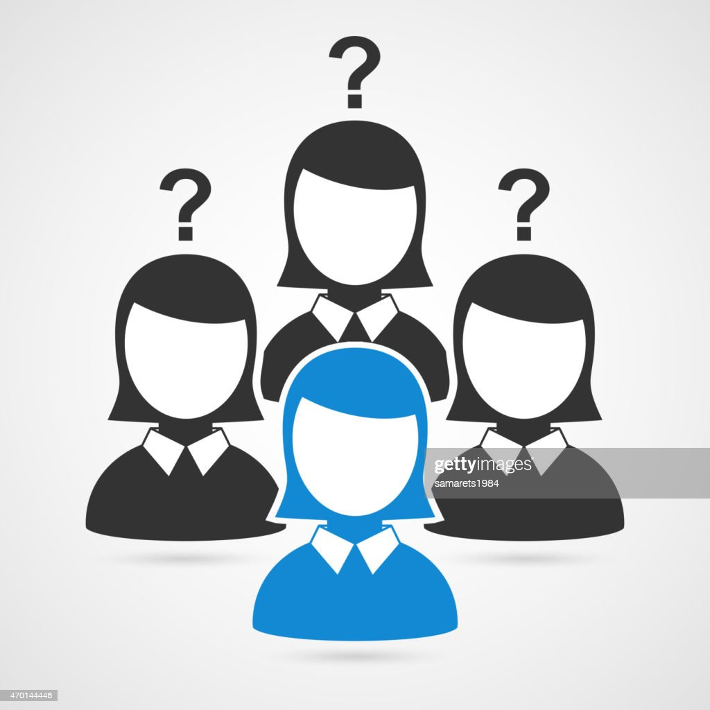 Businessman woman silhouettes. Vector icon