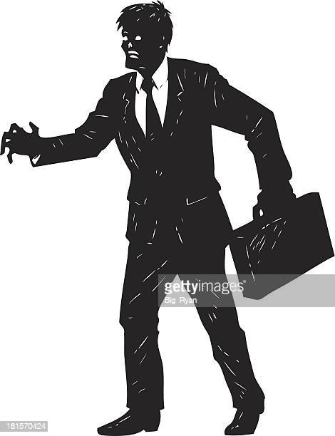 businessman zombie - zombie stock illustrations, clip art, cartoons, & icons