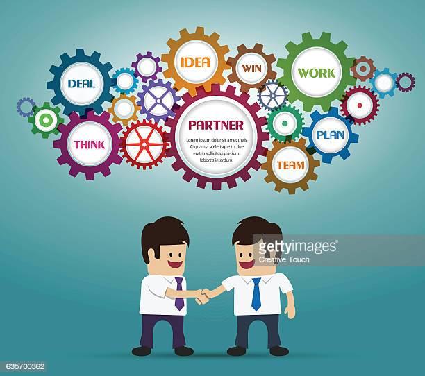 Businessmans deal and handshake