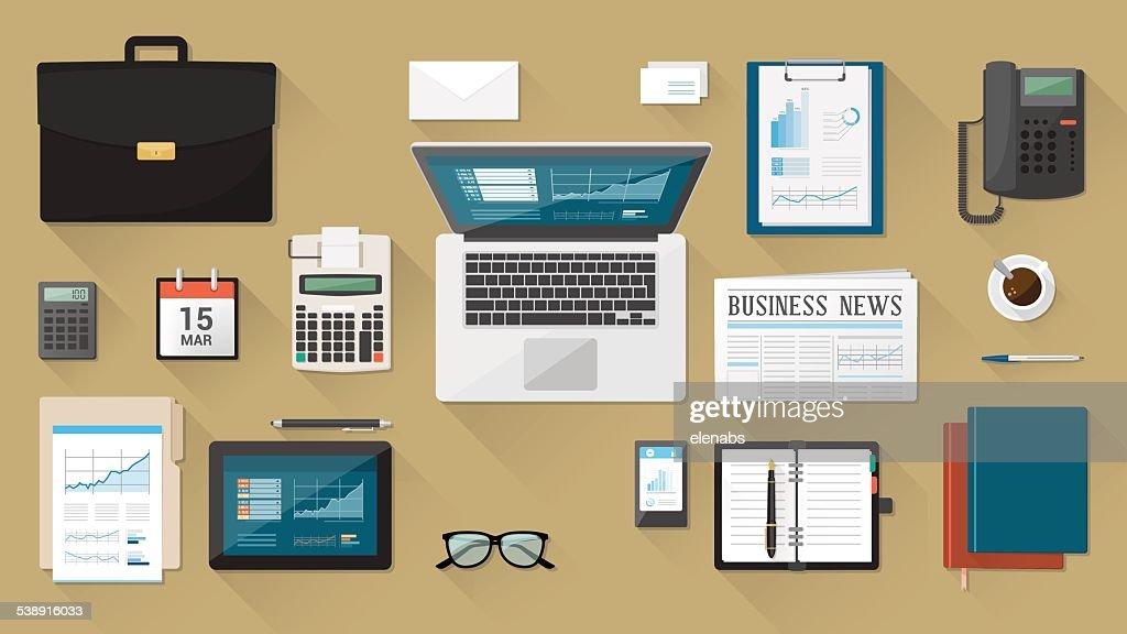 Businessman's desk