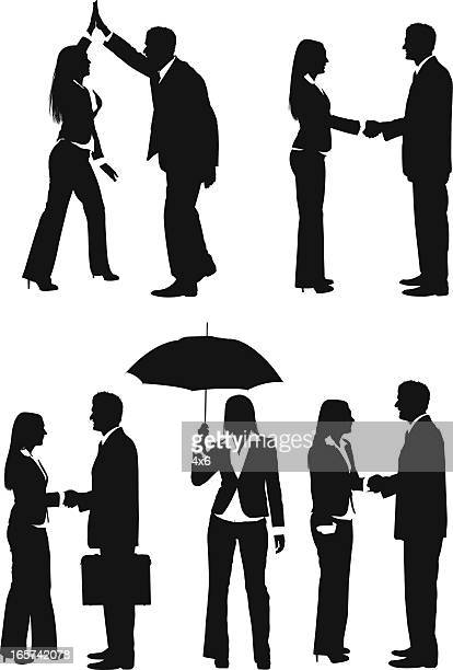 Businessmen and businesswomen working together