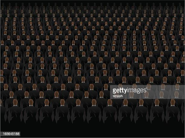 Businessmen crowd