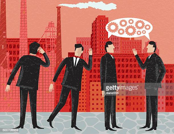 Businessmen Eavesdropping on a Business Conversation