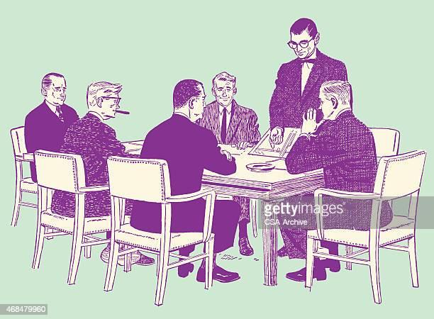 Hommes d'affaires ayant une réunion