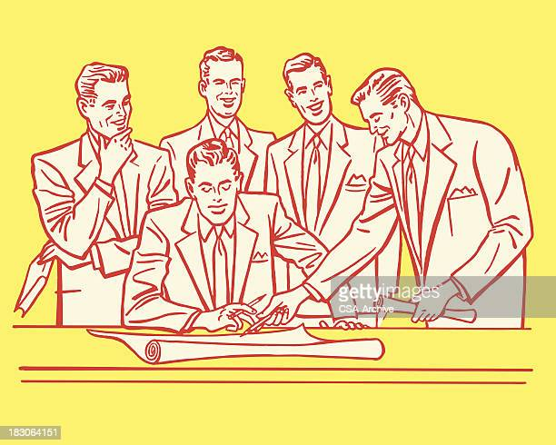 Businessmen in a Meeting