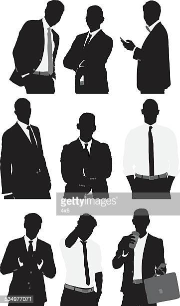 Businessmen in various actions
