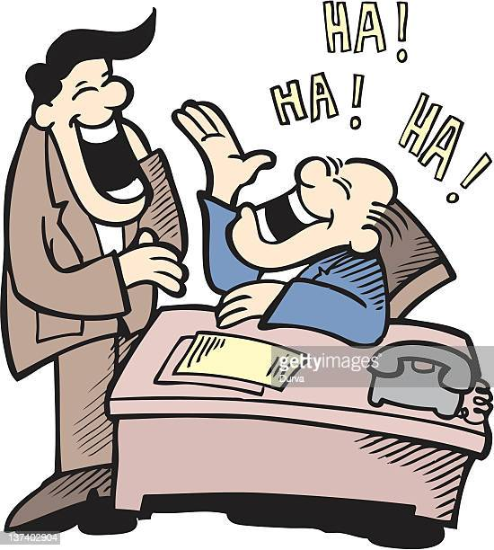 Businessmen laughing