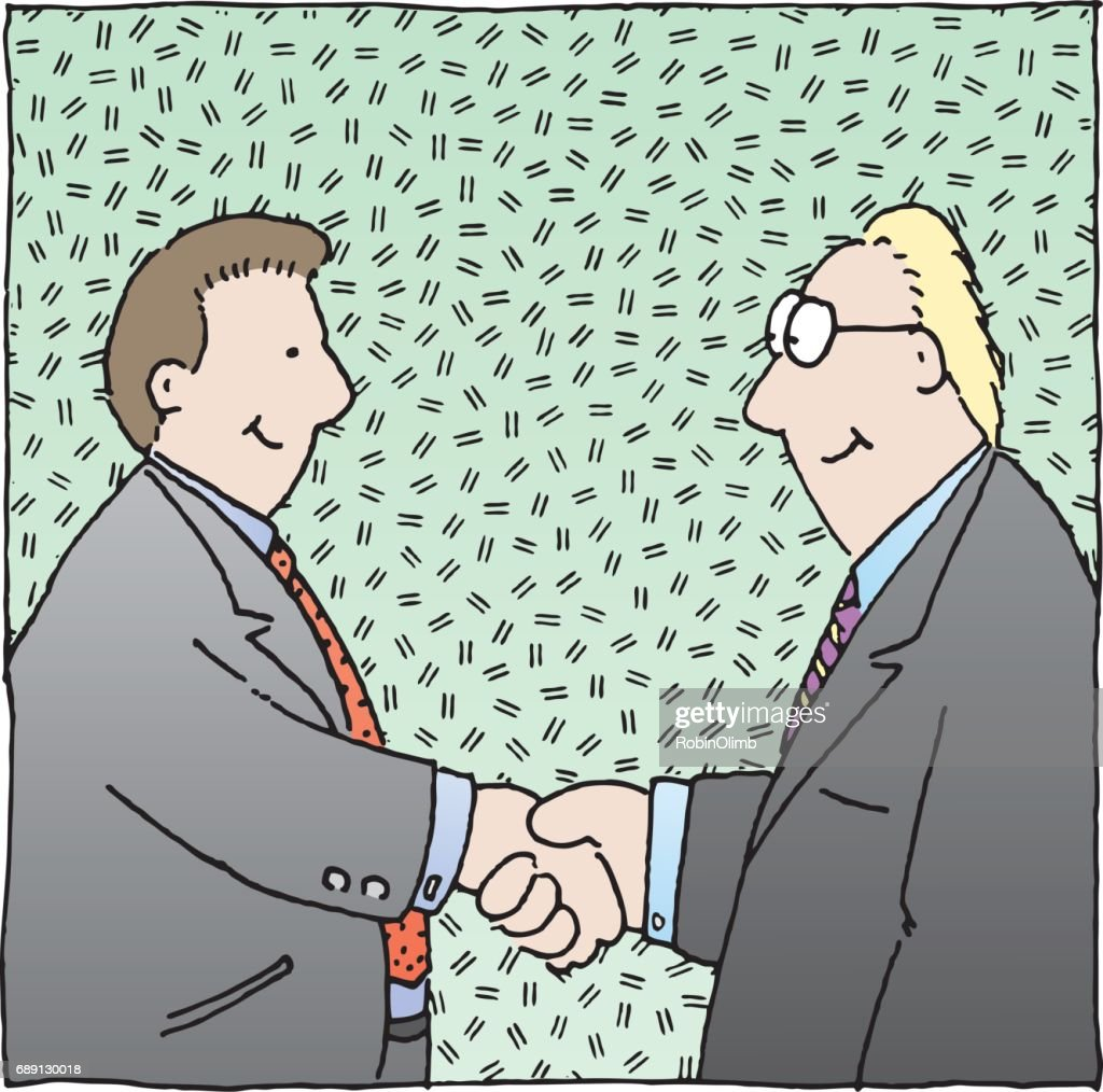 Businessmen Shaking Hands : Stock Illustration
