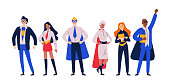 Businessmen superheroes. Entrepreneur, manager in a hero costume.