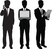 Businessmen Using Portable Gadgets