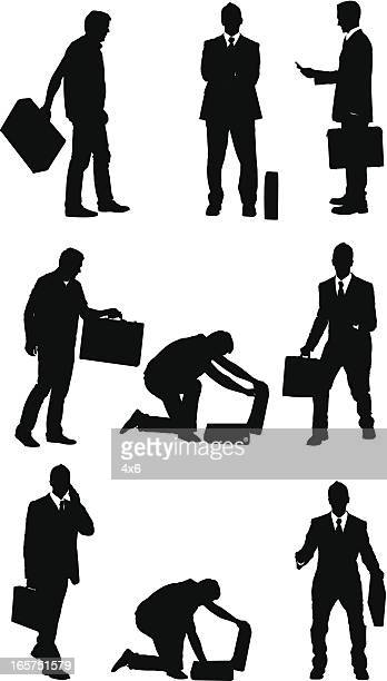 Businessmen with briefcases