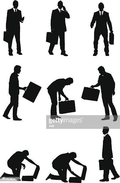 Geschäftsleute mit Aktentaschen