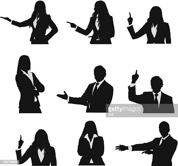 businesspeople waist up vector images - waist up stock illustrations, clip art, cartoons, & icons