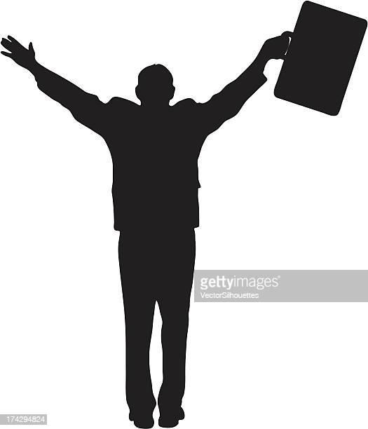 ilustraciones, imágenes clip art, dibujos animados e iconos de stock de businessperson silueta - miembro humano