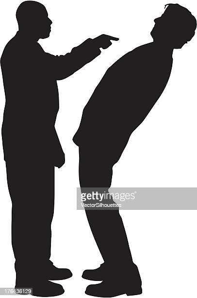businessperson silhouette - threats stock illustrations