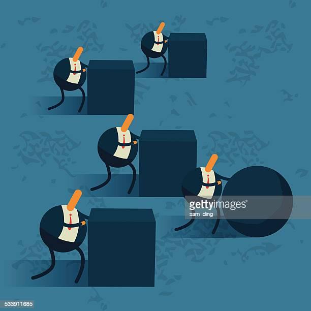 Business,Push forward, energy, effort, smart