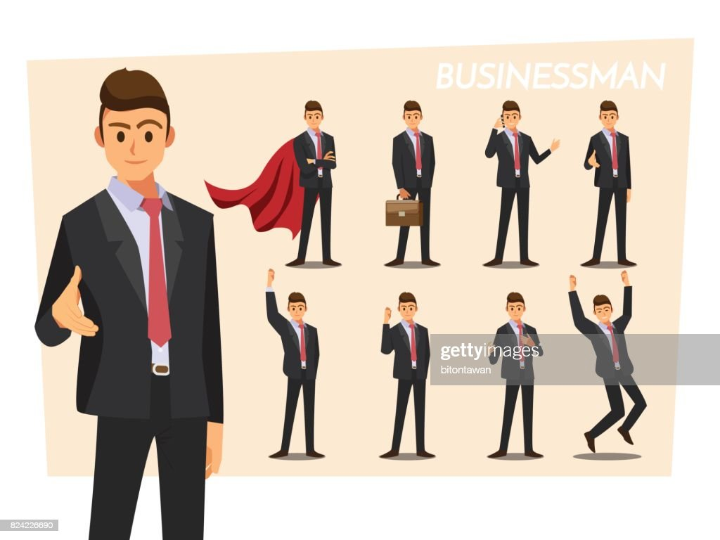 Businesswoman at a presentation ,Vector illustration cartoon character.