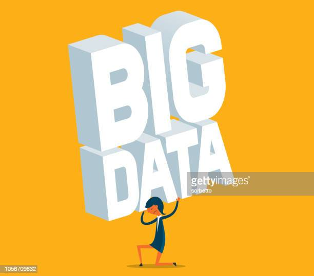 Businesswoman - Big Data - Overworked