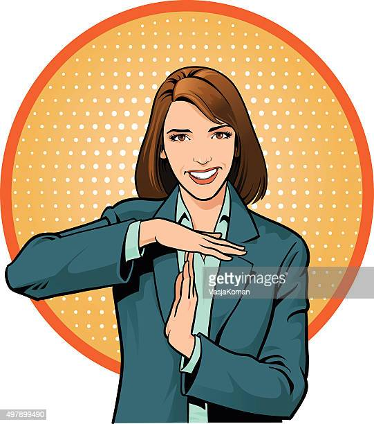 Businesswoman Calling For Time Out - Gesture