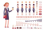 Businesswoman character creation set