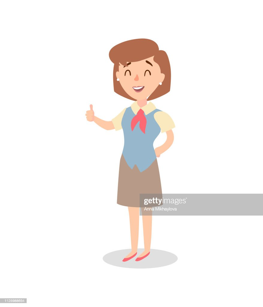Businesswoman character set. Animate character. Female personage constructor. Different woman postures. Vector set personage.